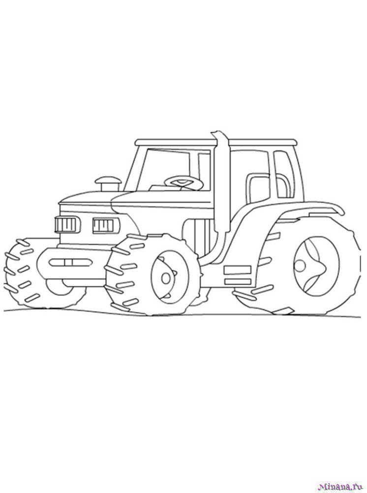 Раскраска Трактор 19
