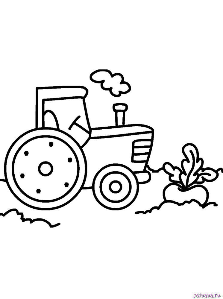 Раскраска Трактор 20