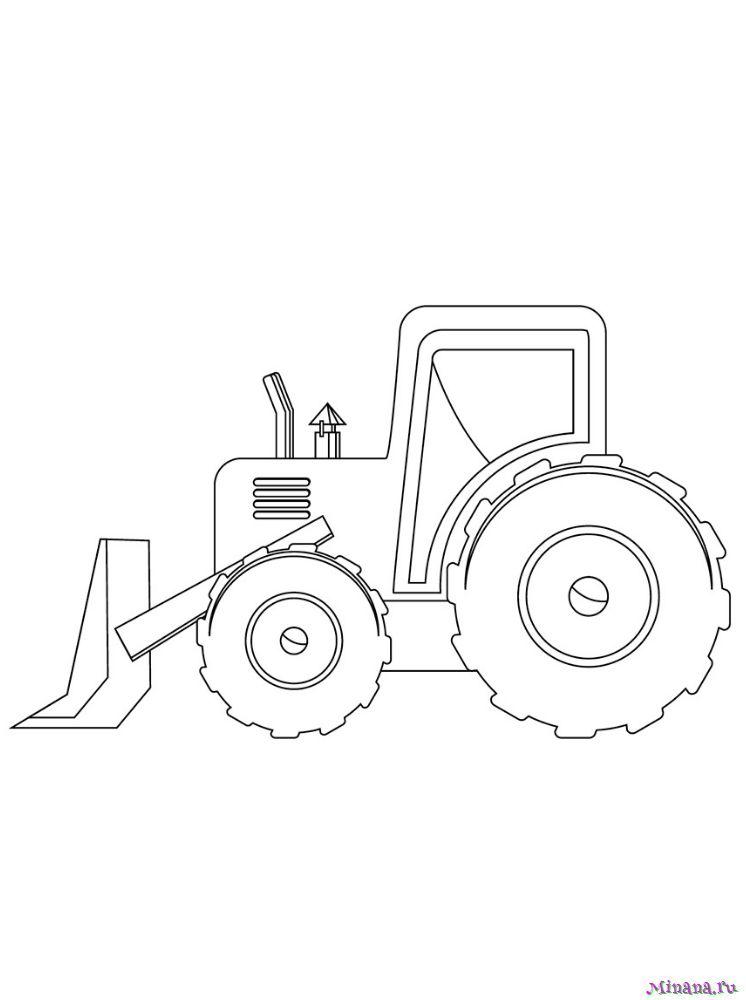 Раскраска Трактор 21