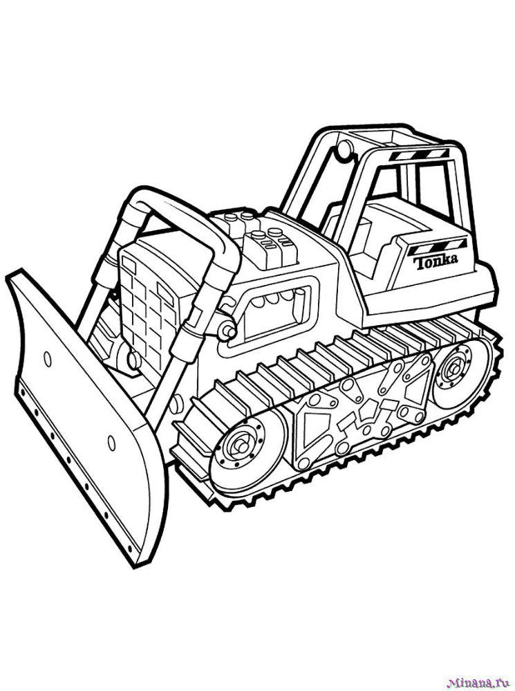 Раскраска Трактор 22