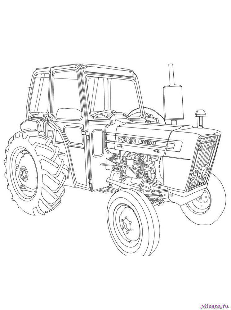 Раскраска Трактор 3