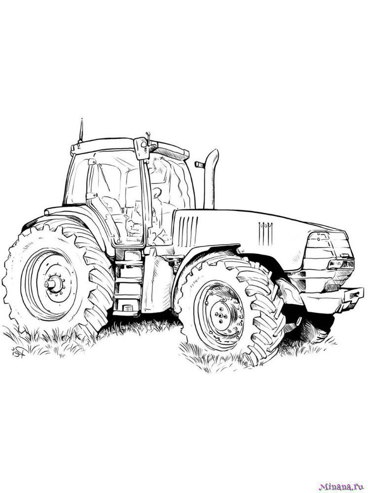 Раскраска Трактор 4