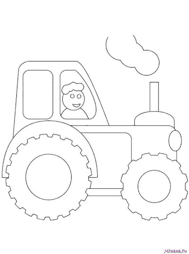 Раскраска Трактор 5