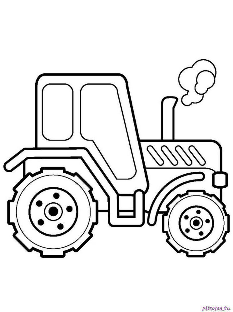 Раскраска Трактор 6