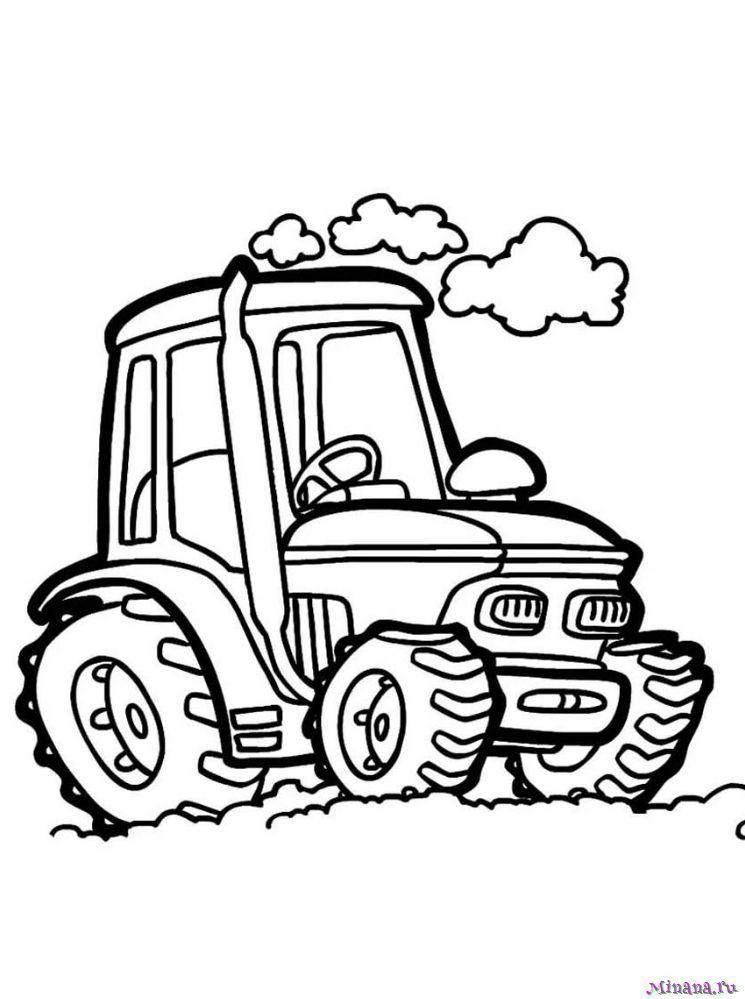Раскраска Трактор 7