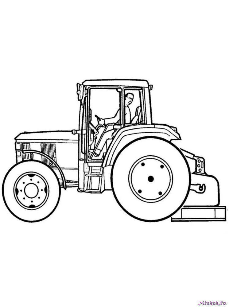 Раскраска Трактор 8