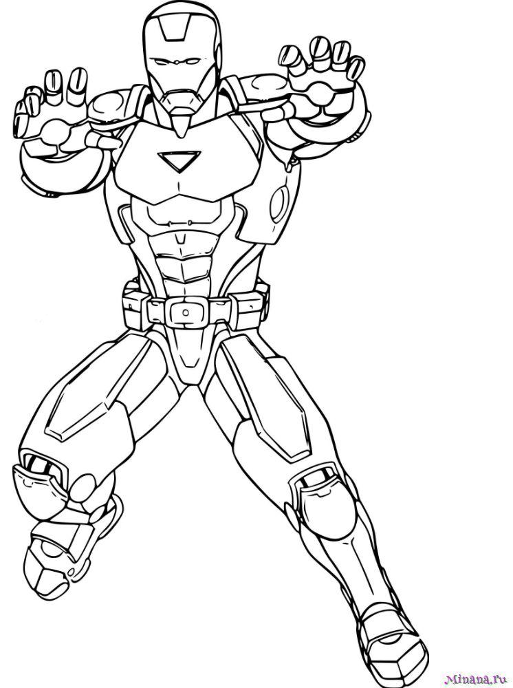Раскраска Человек Железный | Minana.ru