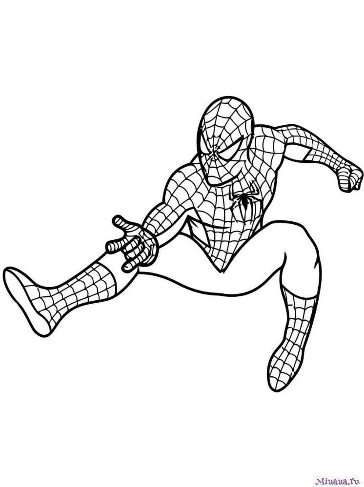 Раскраска Человек паук 3 | Minana.ru