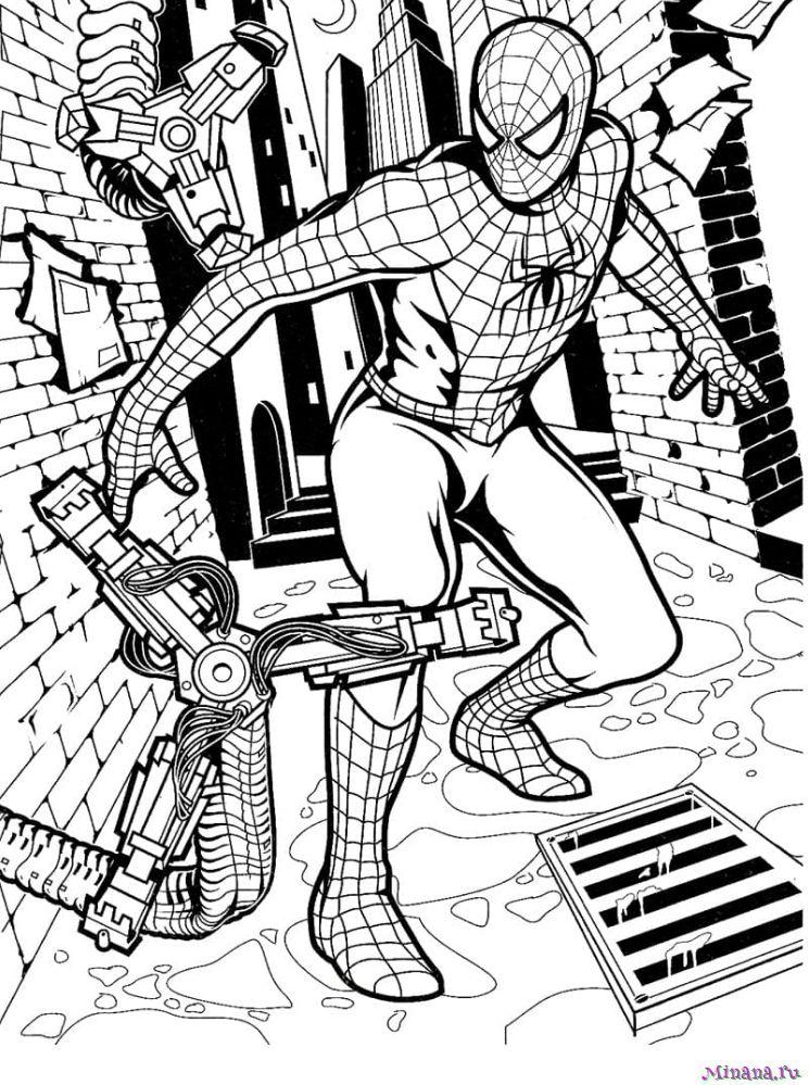 Раскраска Человек паук 5
