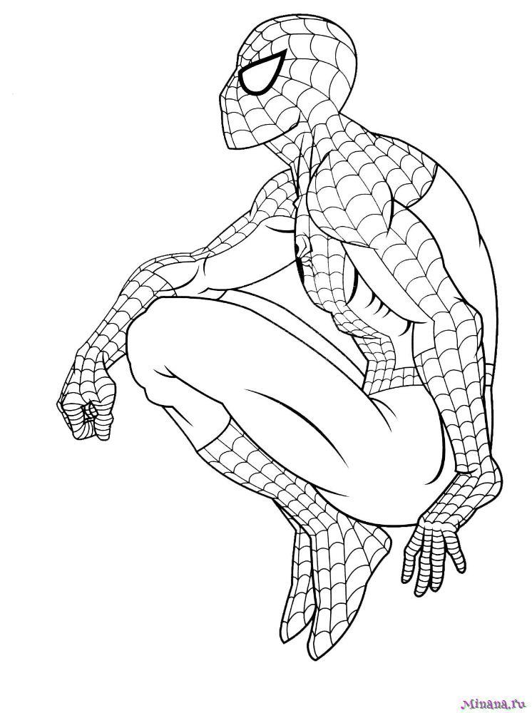 Раскраска человек паук 11 | Minana.ru