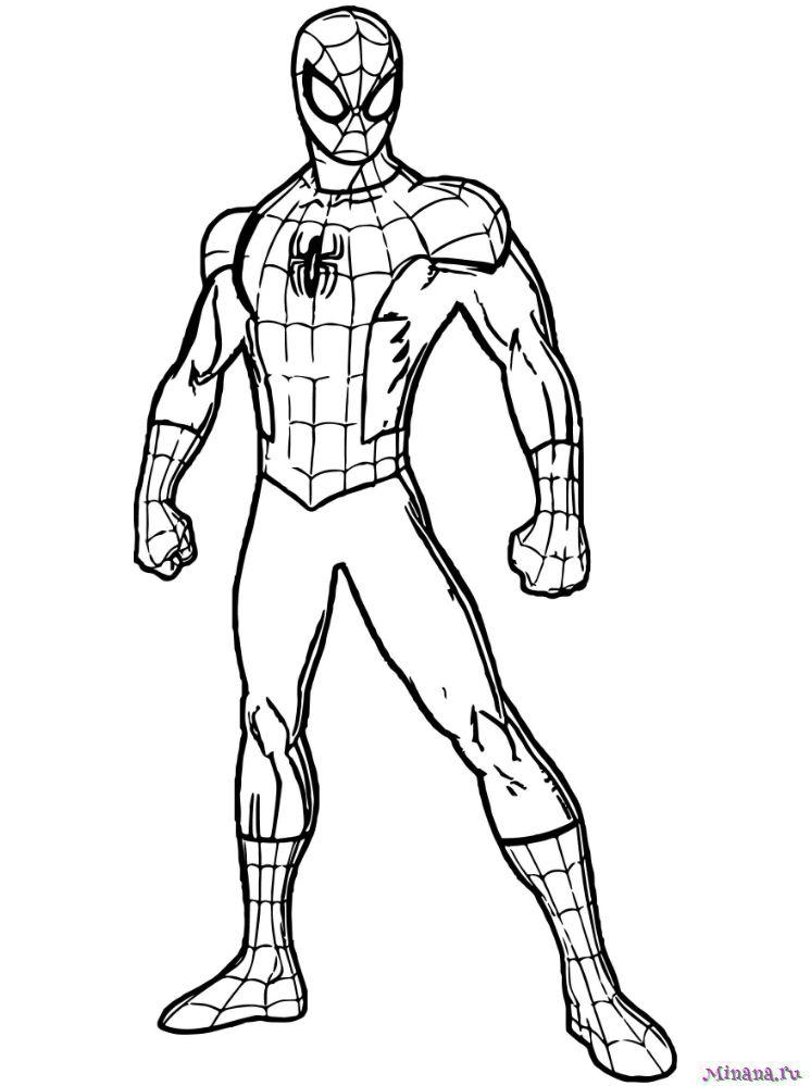 Раскраска человек паук 13