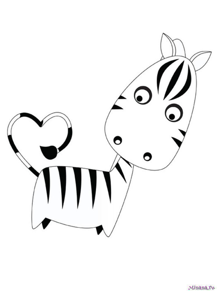 Раскраска зебра 8