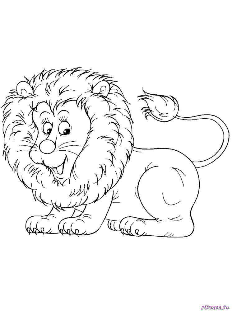 Раскраска лев 5