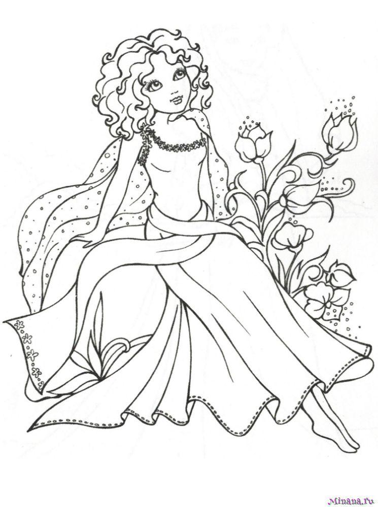 Раскраска принцесса 13