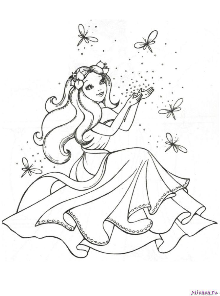 Раскраски принцессы | Minana.ru