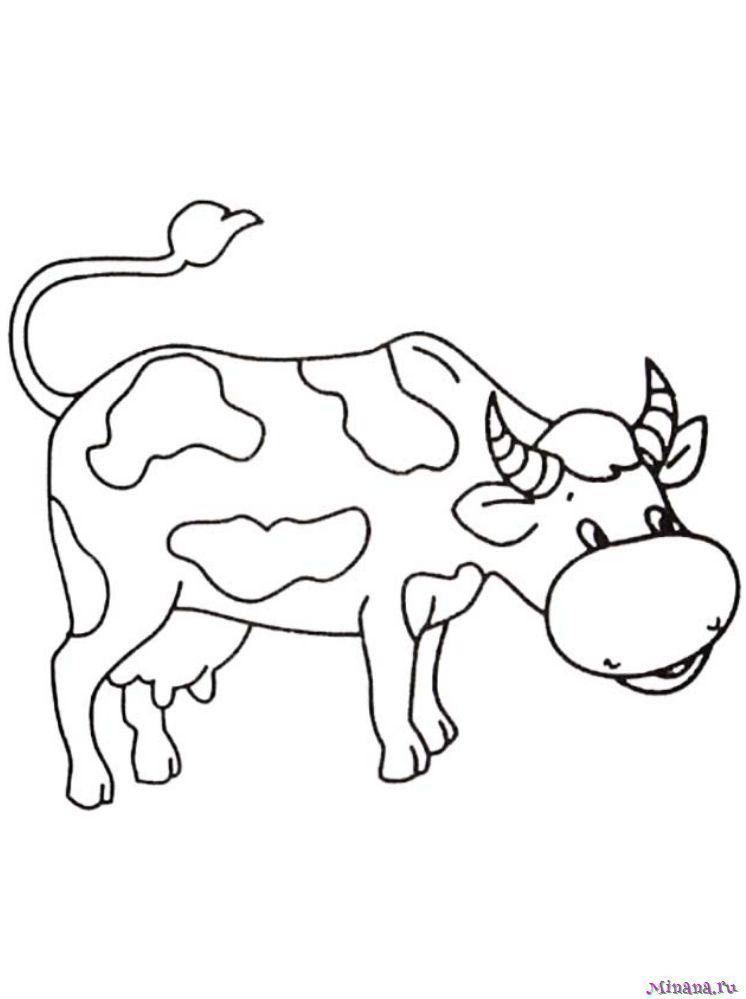 Раскраска корова 10 | Minana.ru