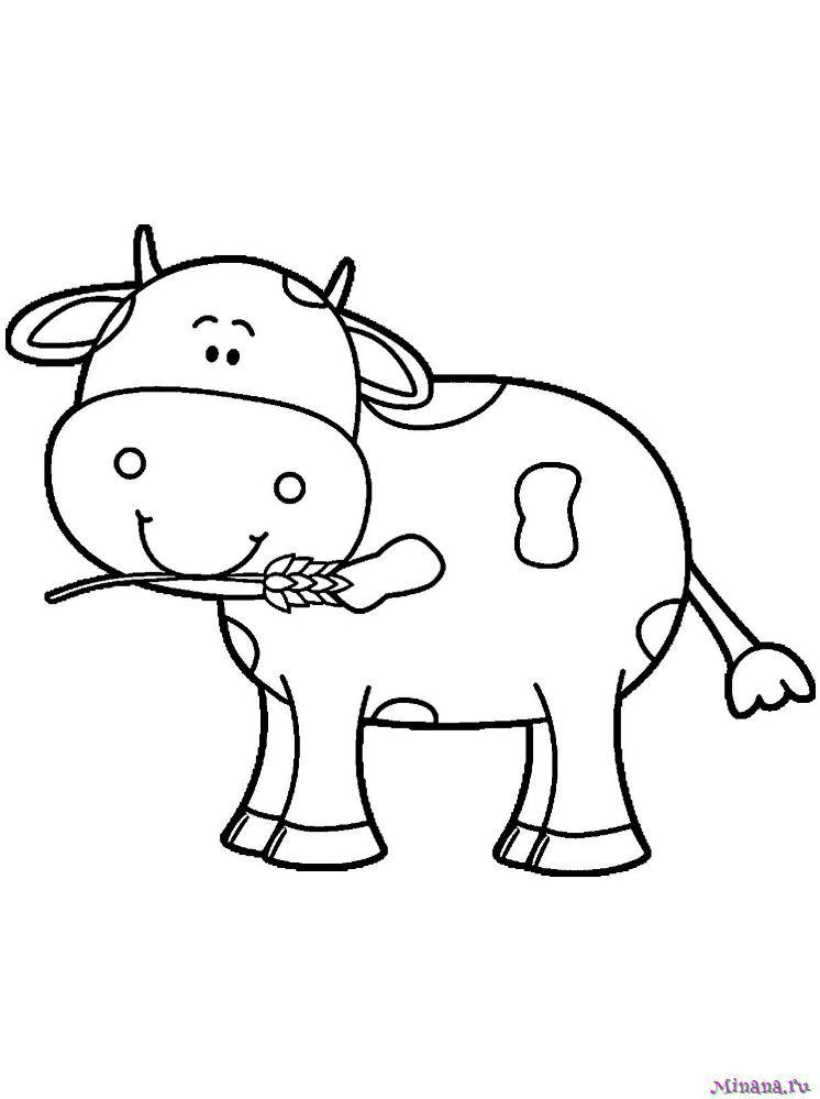 Раскраска корова 7