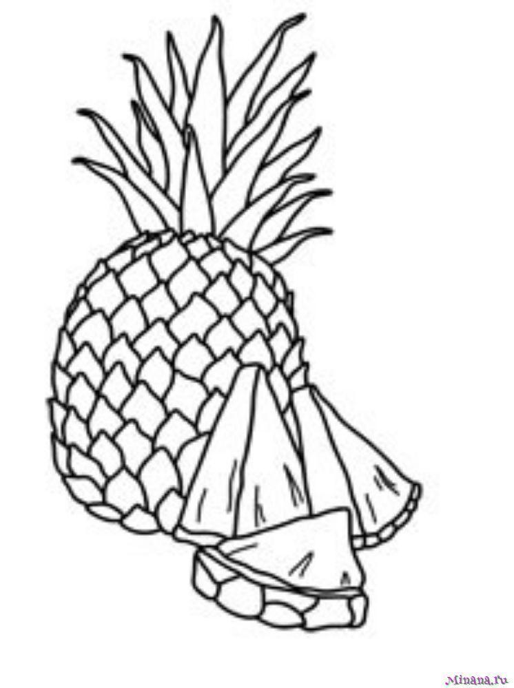 Раскраска ананас 8