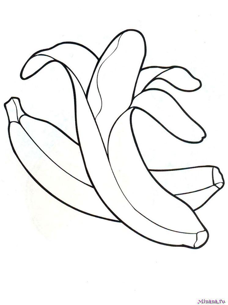 Раскраска банан 3