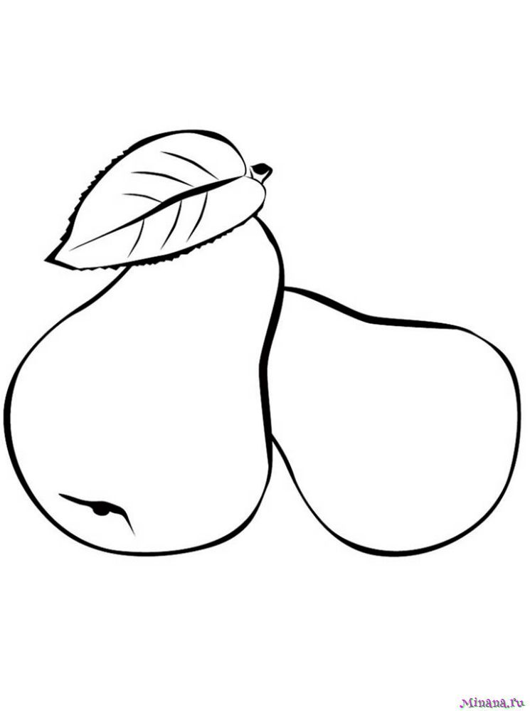 Раскраска две груши