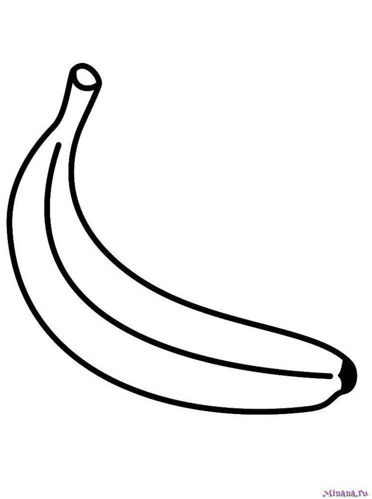 Раскраска один банан   Minana.ru