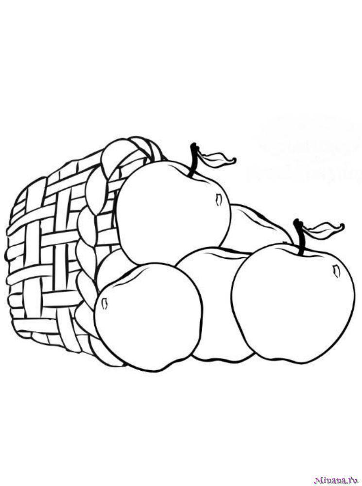 Раскраска яблоки 3