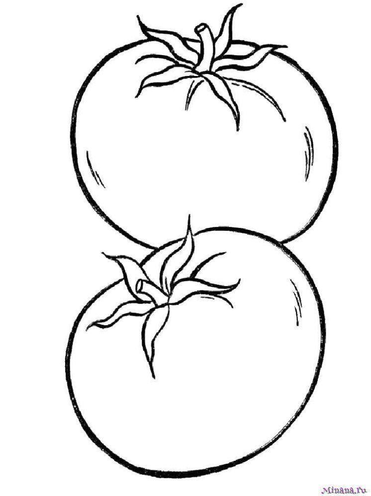 Раскраска два помидора