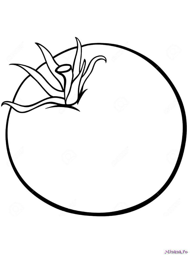 Раскраска помидор 1