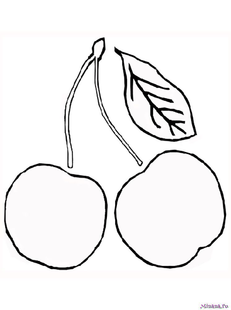 Раскраска вишня 5