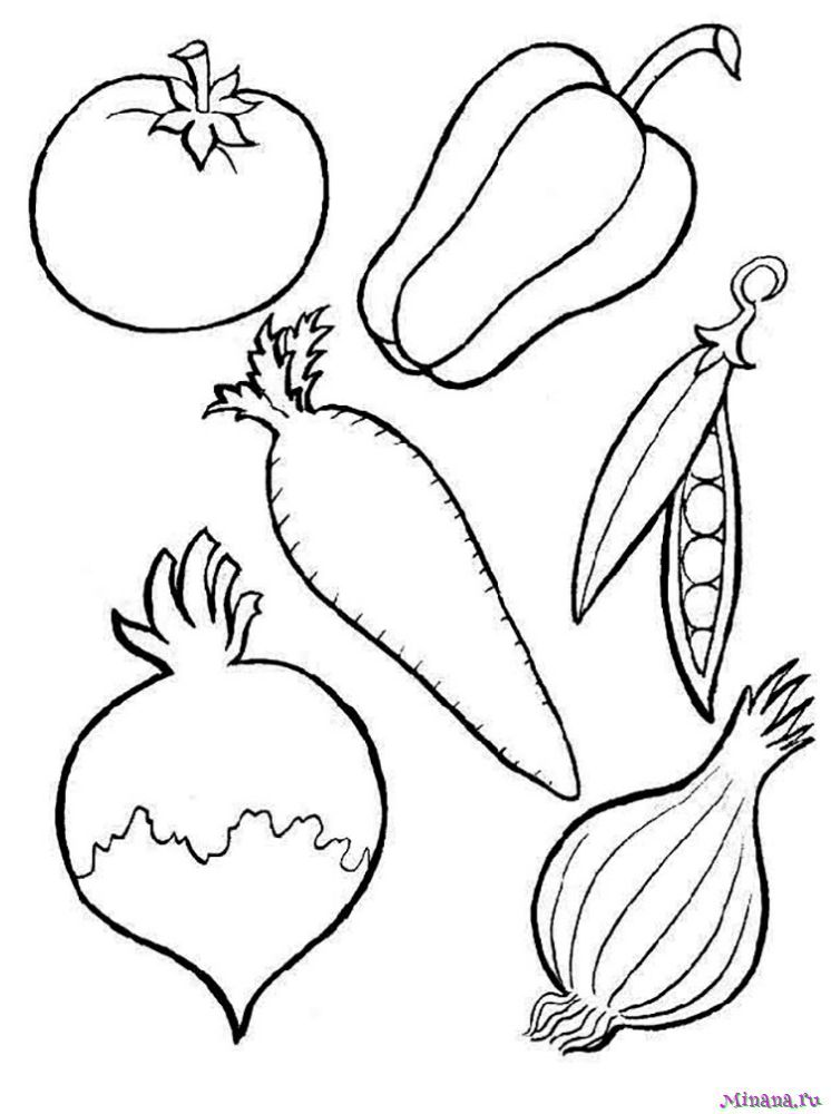 Раскраска овощи 3