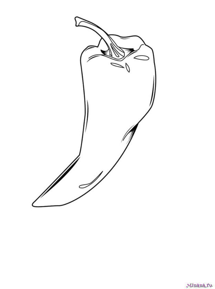 Раскраска острый перец