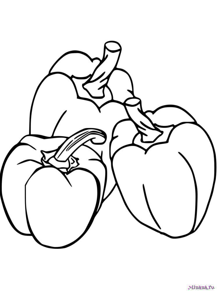 Раскраска перец 9