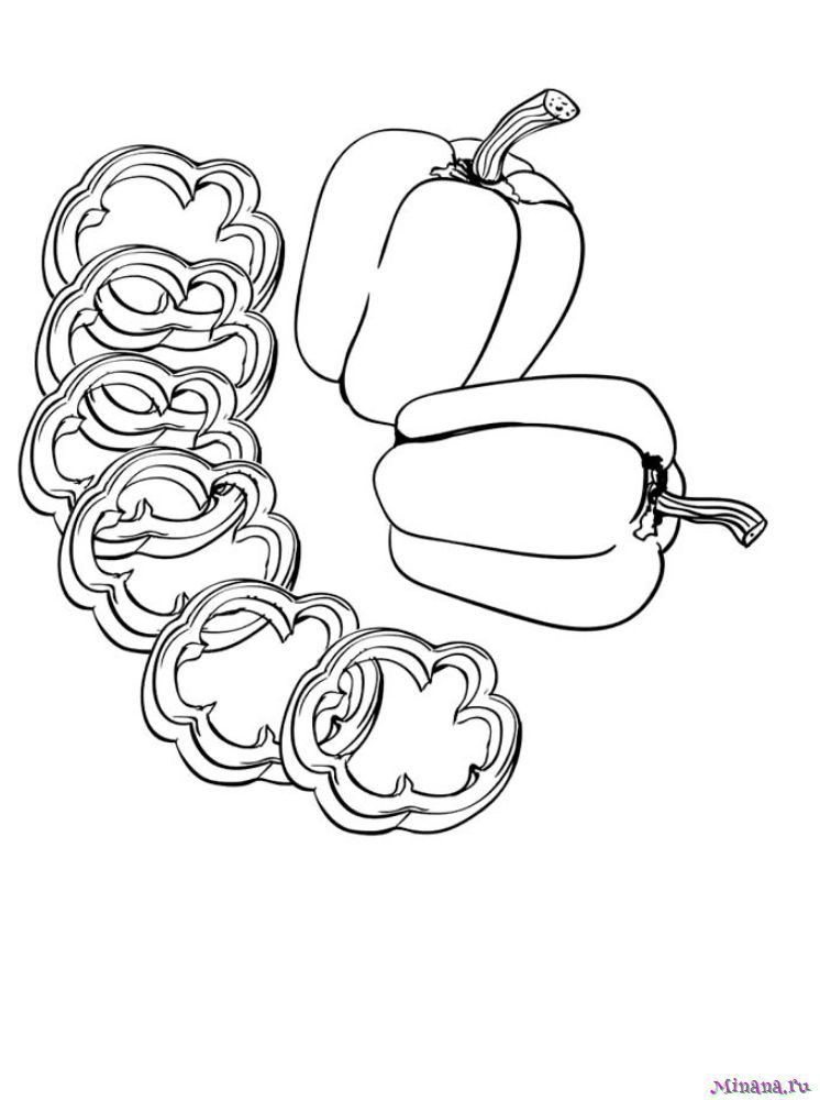 Раскраска перец