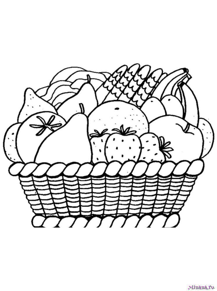 Раскраска фрукты 8