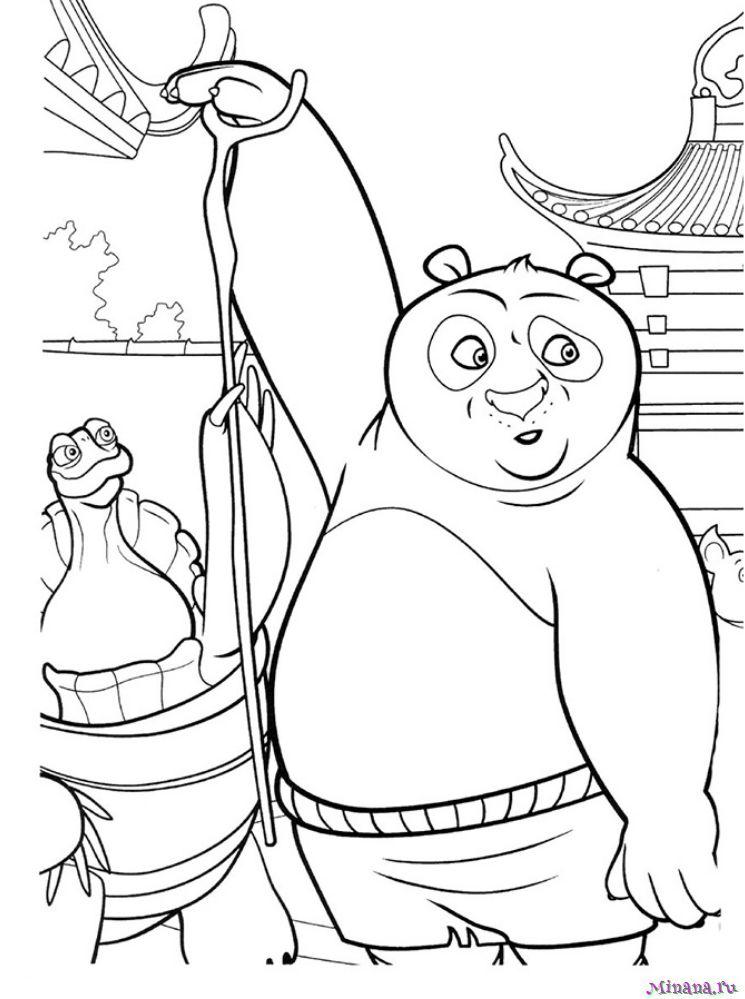 Раскраска Кунг-фу панда 21