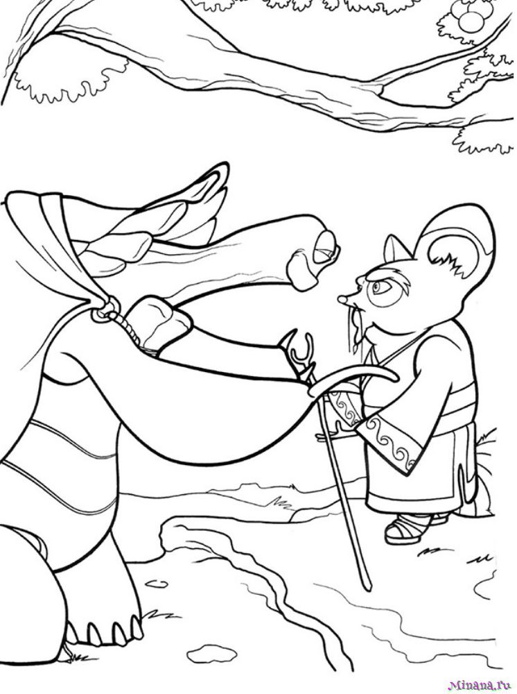Раскраска Кунг-фу панда 23