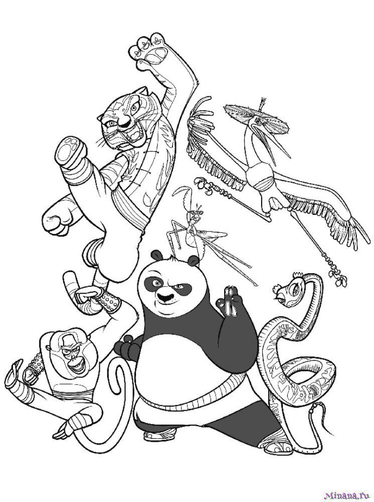 Раскраска Кунг-фу панда 24