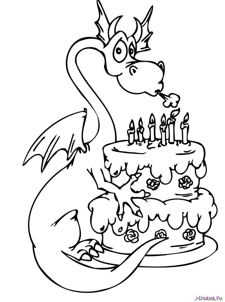 Раскраска торт 12