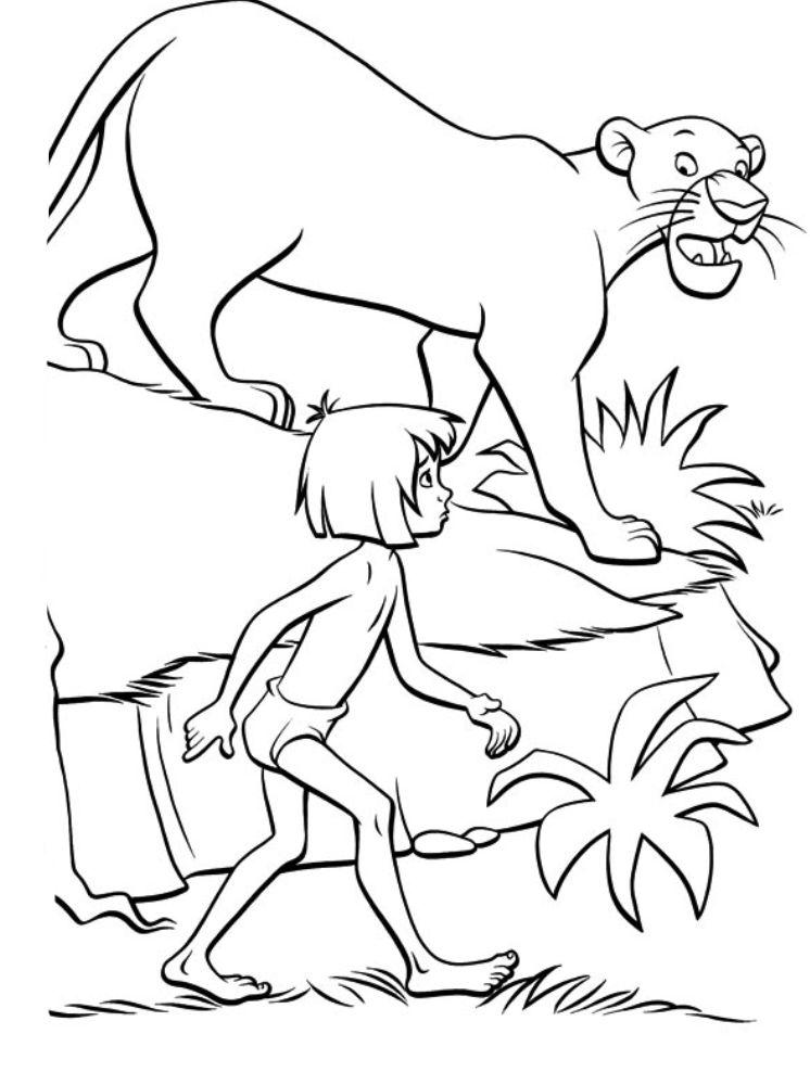 Раскраска Маугли 4