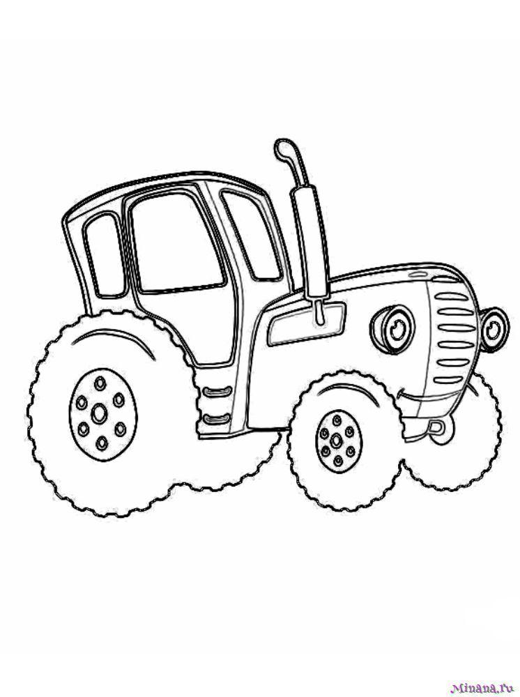 Раскраска Синий трактор 12