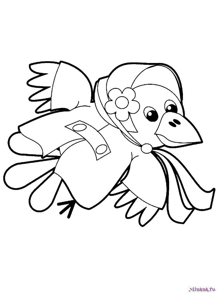 Раскраска ворона 10
