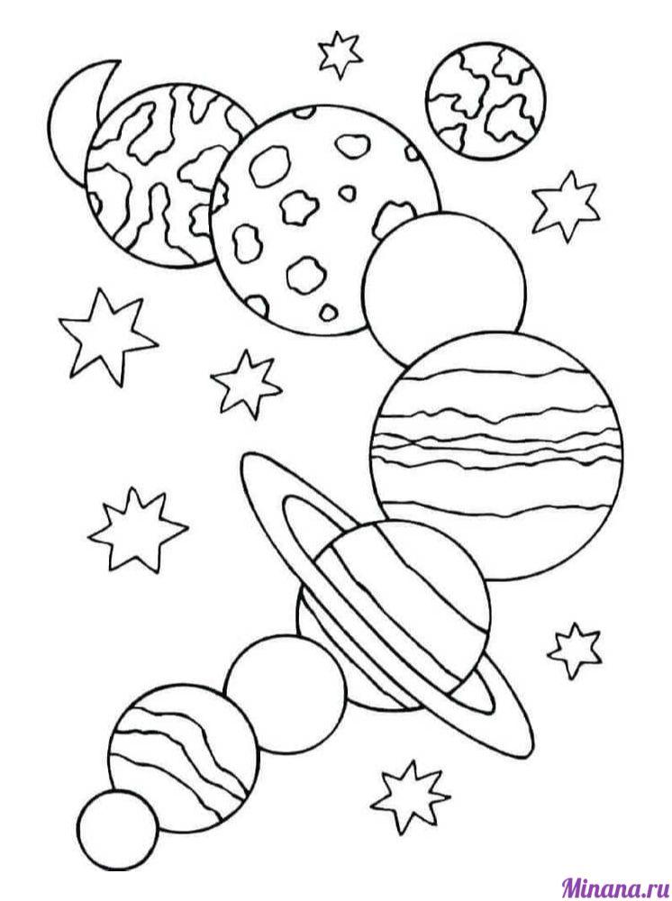 Раскраска планеты