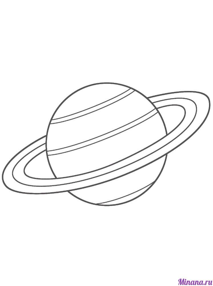 Раскраска сатурн