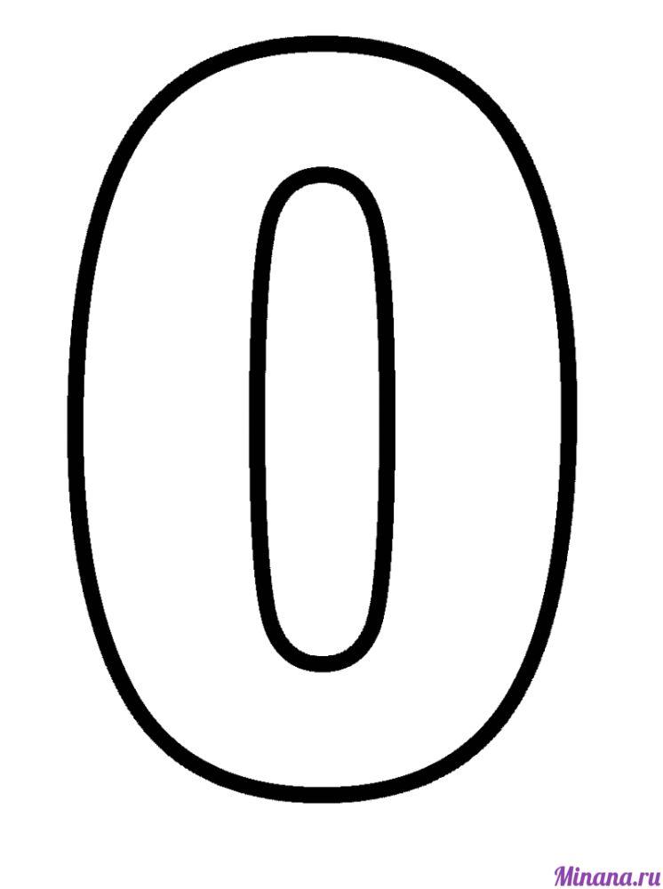 Раскраска цифра 0